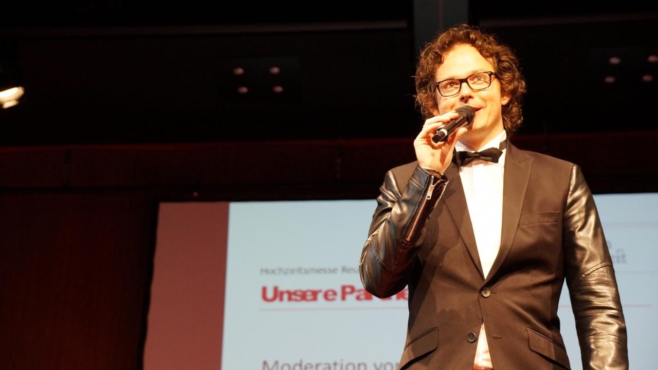 Moderator André Kessler Hochzeitsmesse